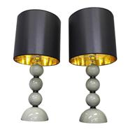 2 All Glass Murano Table Lamp
