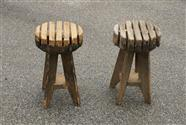Pair Industrial Stools