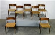 Set of 7 ISA Dining Chairs