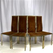 4 Brass Dining Chairs